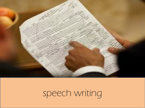 Speech Writing for GCSE AQA NEW SYLLABUS PAPER 2 Question 5