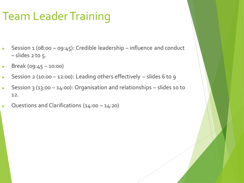 Middle Leader/Head of Year Training