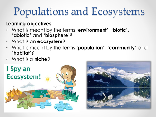 AQA A-level Biology (2016 specification). Section 7 Topic 19: Populations 1 Populations