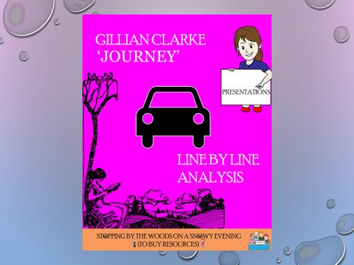 'Journey' - Gillian Clarke - Line by Line analysis
