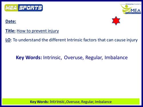 Cambridge National Sports Science - Intrinsic Factors