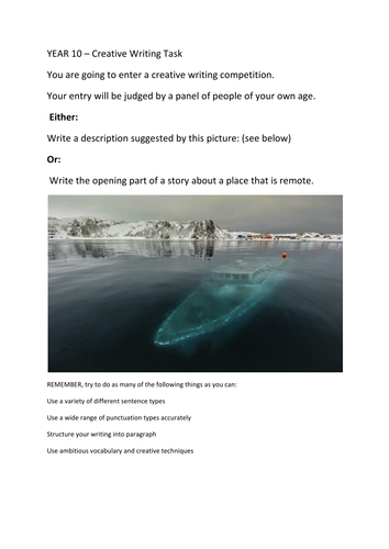 The Hospital       creative writing    GCSE English   Marked by     Free Preview thumbnail Magnify