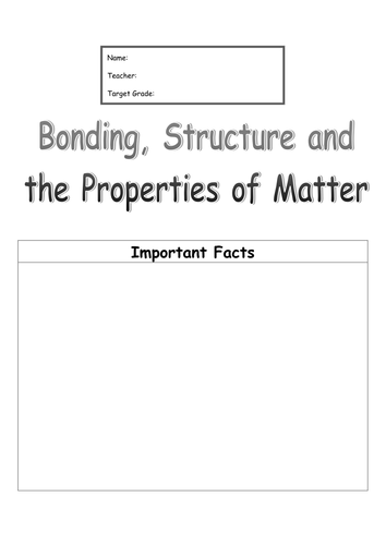 AQA GCSE Chemistry (New for 2016) - Unit 2 Bonding, Structure & Properties of Matter