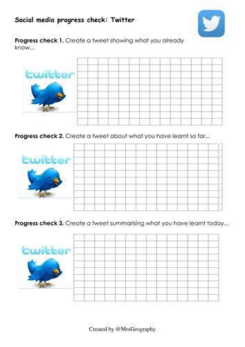 Social media progress tracker