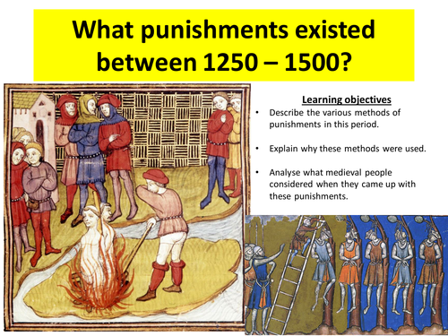 OCR SHP B - Crime and Punsihment - Punishments 1250-1500