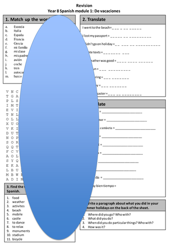 Viva 2 Module 1 revision worksheet