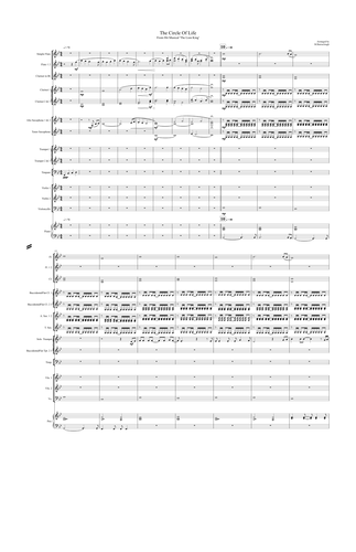 The Circle of Life - For School Ensemble. Conductor Score & Band Parts