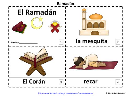 Spanish Ramadan 2 Emergent Reader Booklets