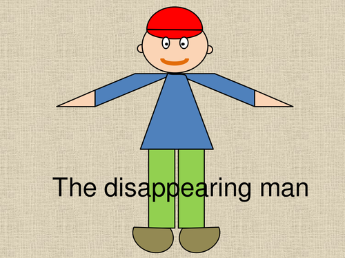 The disappearing man - a super open-ended starter for KS2