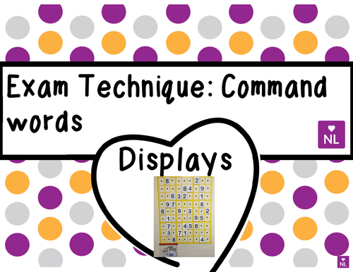 FREE Exam Command Words (Display)