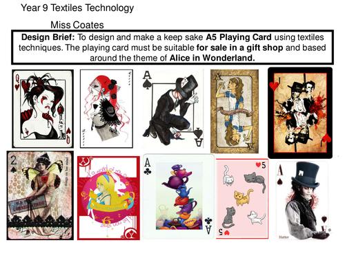 Alice In Wonderland Textiles Technology KS3
