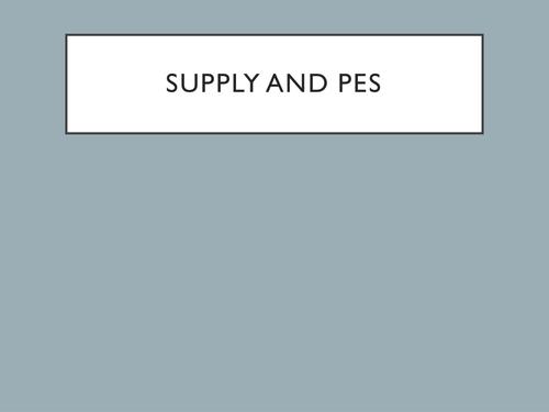 A Level Economics - Supply (PES, Price Elasticity of Supply)