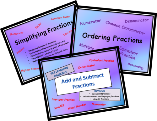 Simplify & Order FRACTIONS