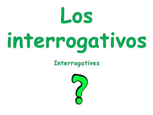 Spanish Interrogatives Display