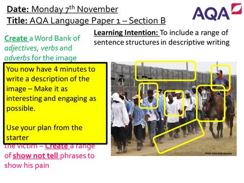 AQA Lang Paper 1 - Section B - Descriptive Writing