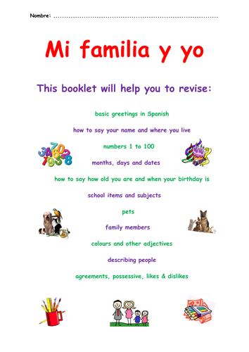 KS3 Spanish Revision Booklet – mi familia y yo