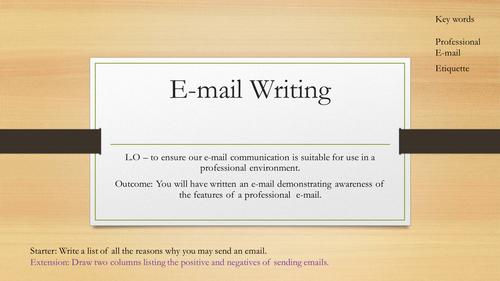 Email - Etiquette Lesson