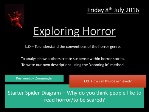Horror Writing - Exploring the Genre