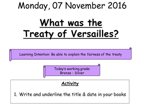 11 - Treaty of Versailles