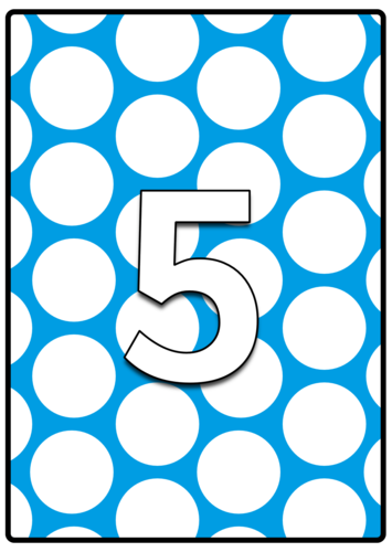 Colour and Pattern - Numbers 0 to 20 (Stripes, Spots & Checks)