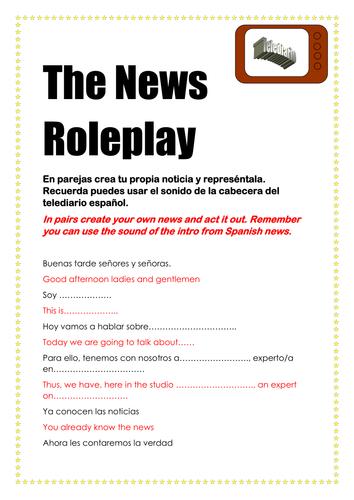 Guión Roleplay Script Spanish Español The News Las Noticias