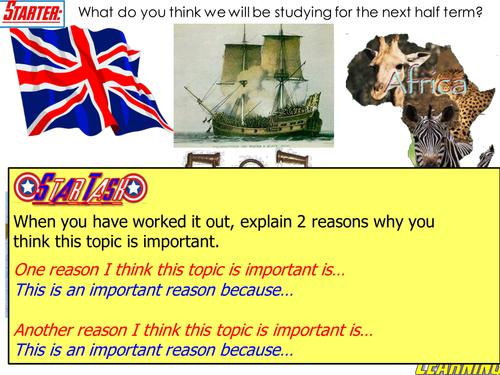 Slavery Lesson 1: Keywords