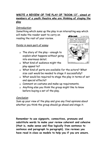 minute a midsummer night s dream script by twbaca teaching  drama review writing template for the play room 13