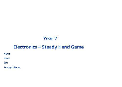RM / Electronics - steady hand game folder