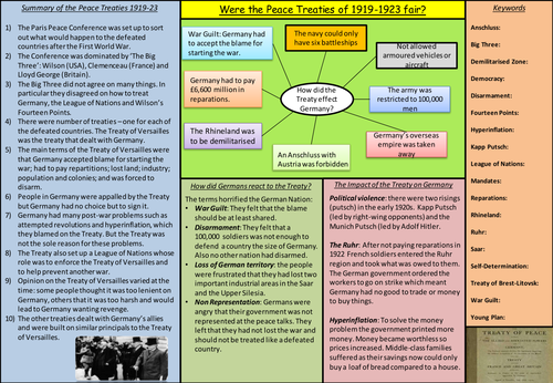 International Relations Revision place-mats (GCSE)