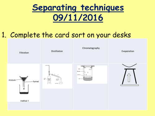 KS3 separating techniques by tomllewellyn Teaching Resources Tes – Separation Techniques Worksheet