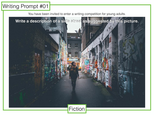 9-1 GCSE Writing Prompts 1-5: pictures for descriptive writing