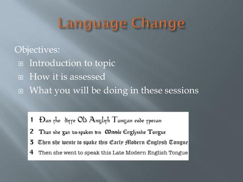 AQA A Level Language: Language Change