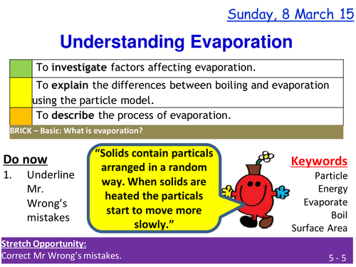 Evaporation and boiling lesson