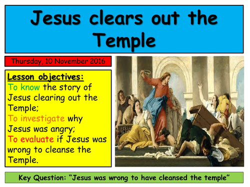 EDEXCEL Unit 16.2, Mark's Gospel. Jesus cleanses the Temple