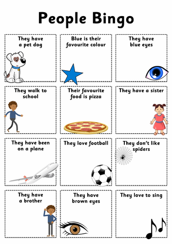 'People Bingo' - Help your class get to know each other
