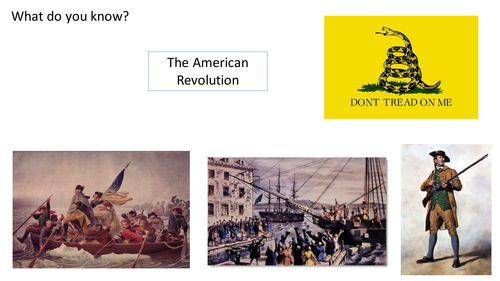 *Full Lesson* American Revolution: Introduction to the American Revolution (Edexcel A-Level)