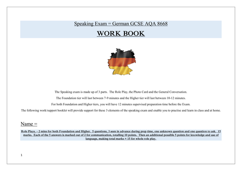 Printable Math Worksheets For 2nd Grade Excel Gcse German Revision  Vocabulary Writing  Speaking  Tes Esl Idioms Worksheet Word with Pie Graph Worksheet Excel German Gcse Speaking Exam New Spec Support Bookletworkbook Two Step Word Problems 3rd Grade Worksheets Word