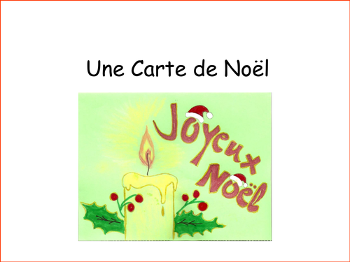 French christmas cards by sazzym teaching resources tes m4hsunfo Images