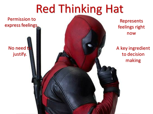 The Thinking Hats Super Hero Themed.
