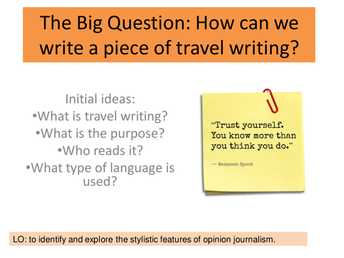 The Power of Information: Travel Writing
