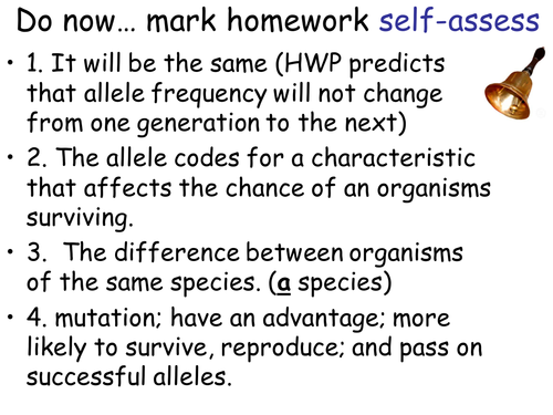 AQA New Specification A-Level Year 2 Chapter 3.7.2 Populations and Evolution Lesson 2 – Variation an