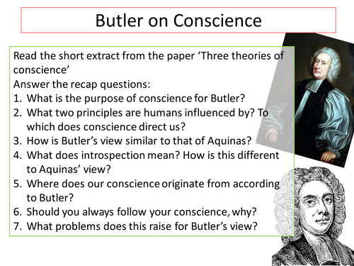 Critiques of Butler's view of conscience
