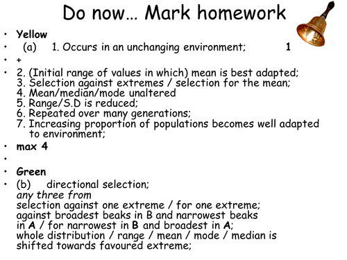 AQA New Spec A-Level Year 2 Chapter 3.7.2 Populations & Evolution Lesson 4 – Isolation & Speciation