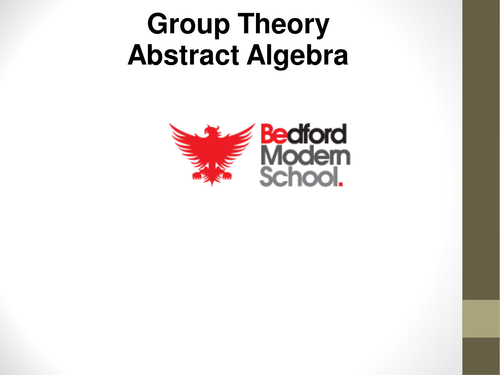FP3 Group theory: Abstract algebra