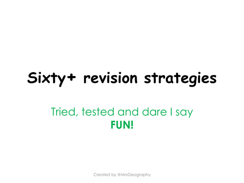 60+ revision strategies for any subject!