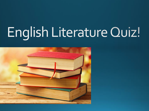 Book Jacket and Book Character (English Literature) Quiz