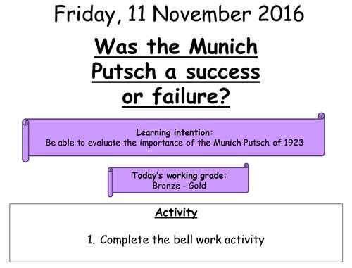 Was the Munich Putsch a success or failure
