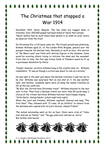 The Christmas Truce 1914 World War One history lesson