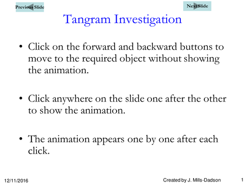 Activities on Tangram to help stimulate the creative minds of students