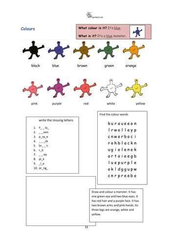 Colours/Colors ESL EAL activities